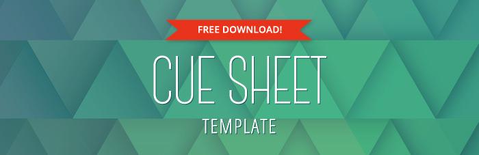 Music Cue Sheet Template