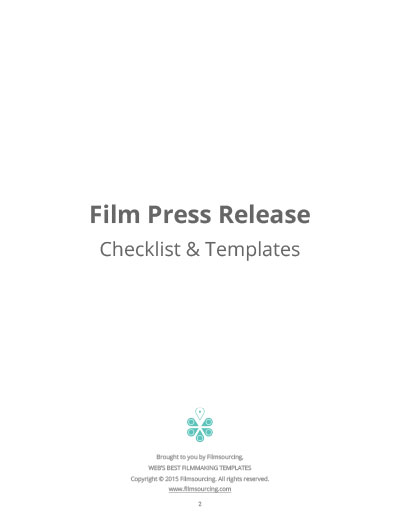 Writing A Press Release For Film Movie Marketing Tips - Mailchimp press release template