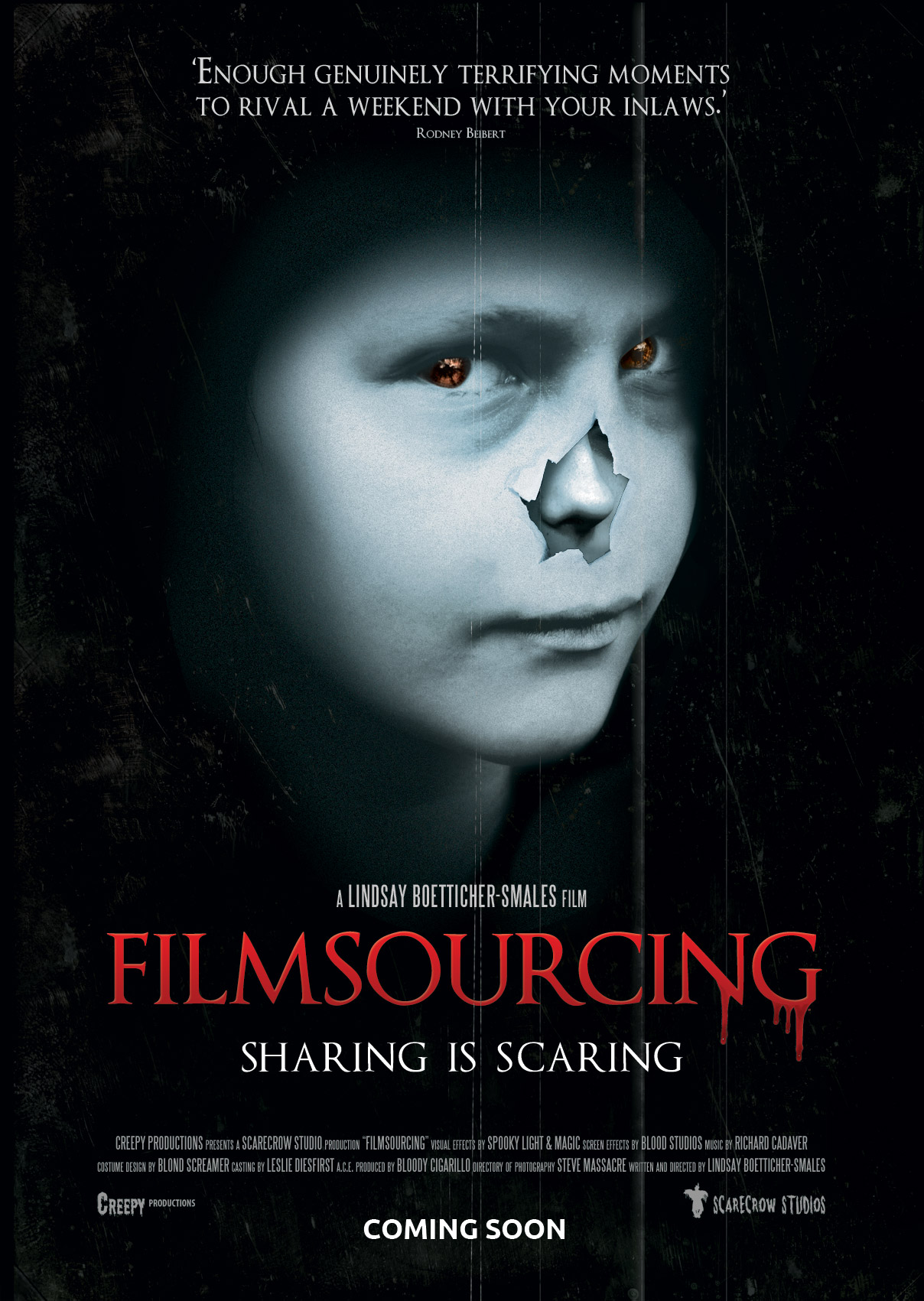 horror movie poster tutorial with free  psd template