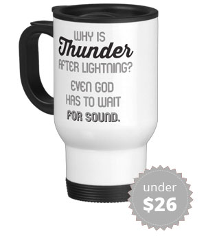 Thermos mug for audio recordist