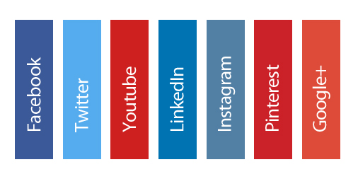 Social Media Brand Colors - Faceook, Twitter, Youtube, LinkedIn, Instagram, Pinterest, Google+