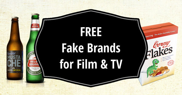FREE fake brands and packaging for film & TV