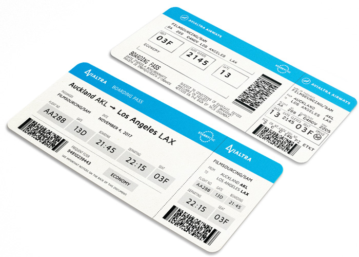 fake airline fake boarding pass for film & TV