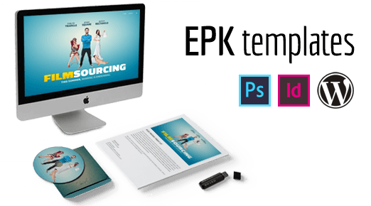 Electronic Press Kit Template - WordPress, InDesign and Photoshop