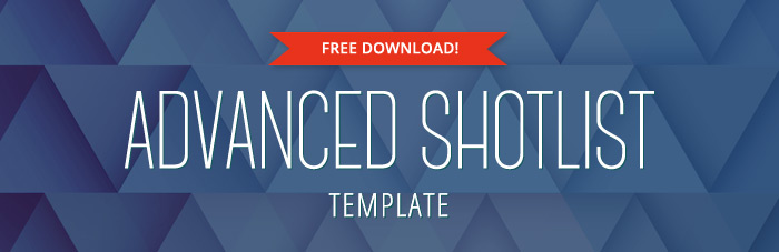 Advanced Shot List Template  Free Download