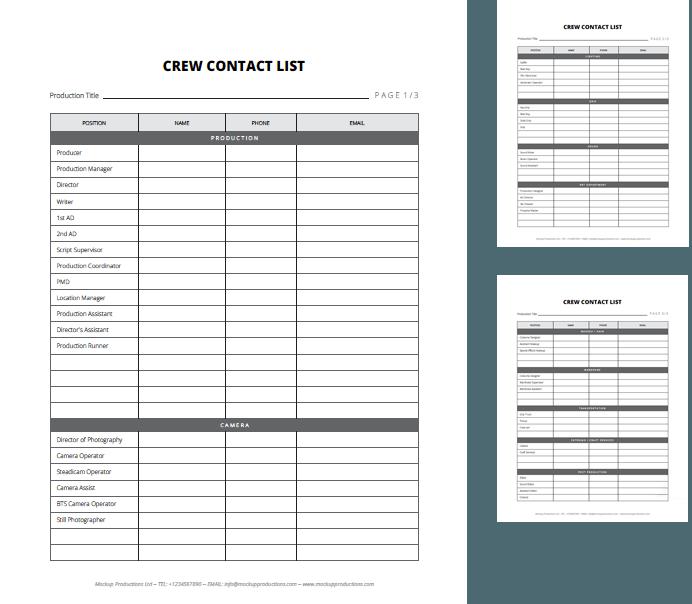 Sample Contact Sheet | Vip Downloads List