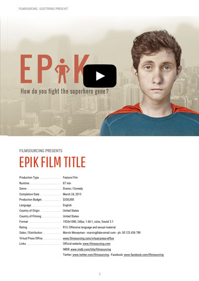epk | electronic press kit tutorial - free templates for film