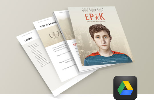 Epk electronic press kit tutorial free templates for film for Digital press kit template free