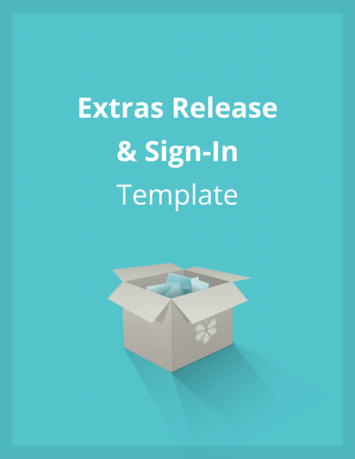 Extras Release & Sign In Template Cover