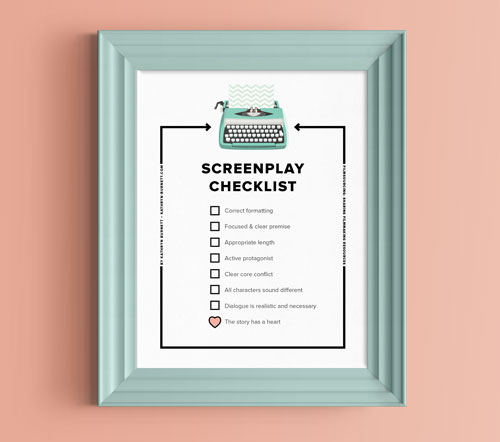 screenplay checklist  how to avoid the reject pile